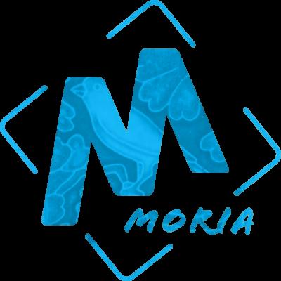 Moria logo blauw
